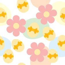 Free Seamless Easter Pattern With Eggs And Flowers Royalty Free Stock Photography - 13642497
