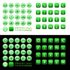 Free Currency Symbols Icons Royalty Free Stock Photo - 13642565