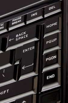 Free Keyboard - Enter Key Stock Photography - 13642582
