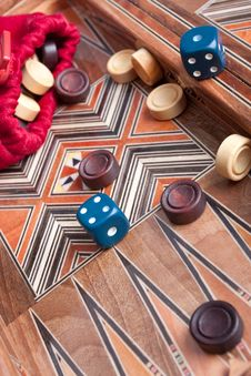 Free Backgammon Royalty Free Stock Photo - 13643455
