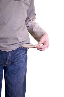 Free Empty Pockets Royalty Free Stock Photo - 13643545