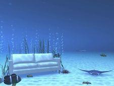 Underwater Lounge Royalty Free Stock Photo