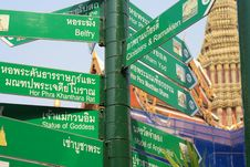 Free Road Guide In Bangkok Stock Photography - 13643852