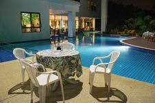 Free Hotel Swimming Pool In Thailand Stock Image - 13643901