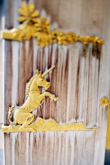 Free Unicorn Gold Sculpture Royalty Free Stock Photo - 13643925