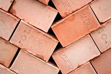 Free Background Of Many Red Bricks For Cinstruction Stock Photography - 13644002
