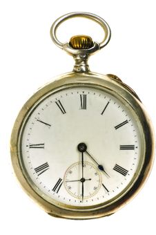 Free Old Style Silver Pocket Watch Stock Photo - 13644150