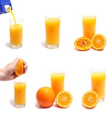 Free Orange And Juice In Glass Stock Photos - 13644153