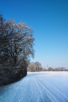 Tranquill Winter Scene Royalty Free Stock Photography