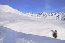 Free Snow Covered Mountains In The Italian Alps Stock Photo - 13644460