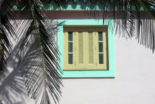 Free Tropical Colonial Window Royalty Free Stock Image - 13644596