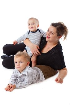 Free Mother And Two Boys Stock Photography - 13644822