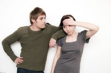 Free Young Couple Scene Royalty Free Stock Image - 13645536