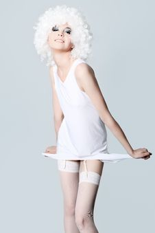 White Lingerie Stock Image
