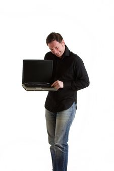 Free Boy With Laptop Royalty Free Stock Photos - 13645718