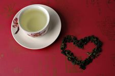 Free Green Tea In A Cup Stock Images - 13645814