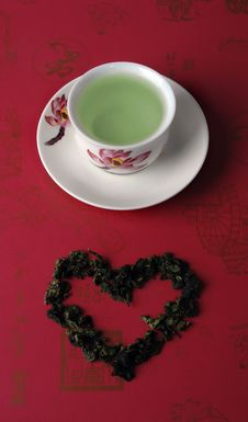 Free Green Tea In A Cup Royalty Free Stock Photos - 13645828