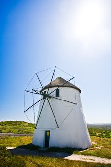 Free Windmill On A Sunny Day Royalty Free Stock Photo - 13645945