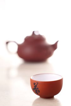 Chinese Teacup And Pot Royalty Free Stock Photo