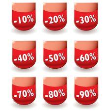 Free Discount Shop Shield Stock Photos - 13646403