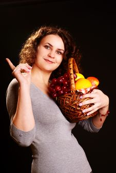 Free Woman And Fruits Stock Photo - 13646490