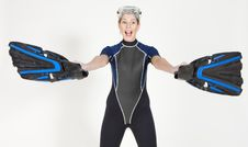 Free Woman Wearing Neoprene Royalty Free Stock Images - 13647559