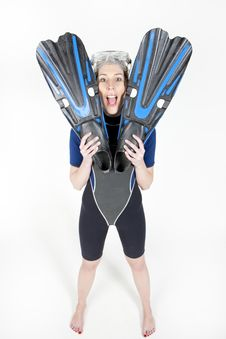 Free Woman In Neoprene Royalty Free Stock Photos - 13647648
