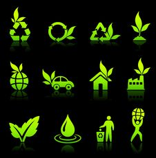 Free Environmental Nature Icons Collection Stock Image - 13647761