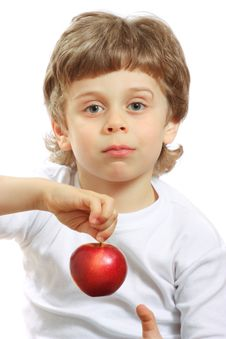 Free Boy With An Apple Royalty Free Stock Photo - 13647845