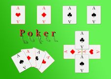 Free Poker Cards, The Four Aces Royalty Free Stock Images - 13647849