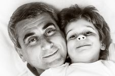 Happy Family - Father And Son Stock Images