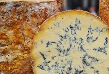 Free Cross Section Of Cheese Wheel Royalty Free Stock Image - 13647866