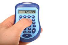 Free Calculator In Hand. Stock Photos - 13648143