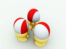 Free Three Easter Eggs Stock Photography - 13648462