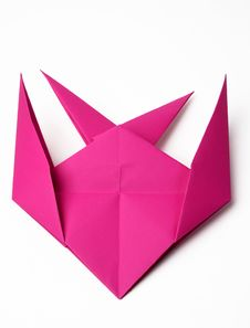 Hand Made Origami Swallow Stock Photos