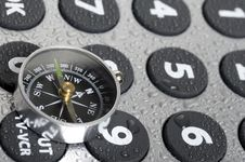 Compass And Remote Control Stock Photos
