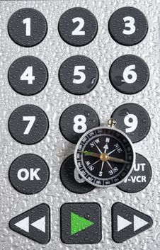 Compass And Remote Control Stock Image