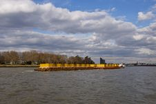 Free Container Barge On The Thames Royalty Free Stock Image - 13649666