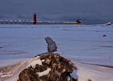 Free Lake Michigan Winter Landscape Royalty Free Stock Image - 13649686