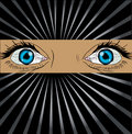 Free Big Spy Eyes Vector Royalty Free Stock Photo - 13650315