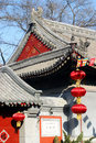 Free Red Lanterns And Temple Roof Stock Image - 13650931