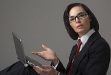 Free The Business Woman Royalty Free Stock Image - 13650086