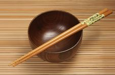 Free Bowl With Chopsticks Stock Image - 13650971