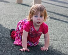 Free Crawling Little Girl Royalty Free Stock Image - 13650986