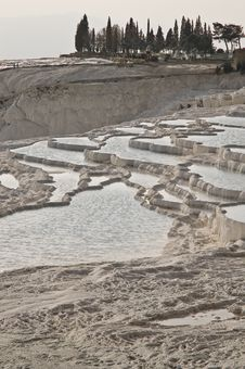 Free Pamukkale Limestone Pools Stock Photography - 13651592