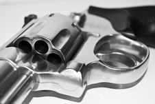 Black And White Revolver Gun Royalty Free Stock Photos