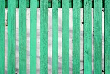 Free Light Green Wooden Fence Stock Photo - 13652650
