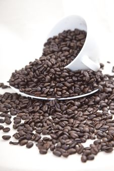Coffee Bean Overflow Royalty Free Stock Image