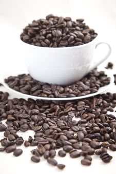 Coffee Bean Overflow Royalty Free Stock Images