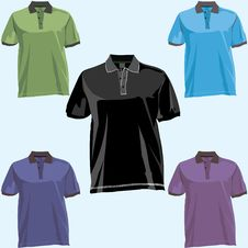 Polo T Shirt Template Front And Back Stock Images